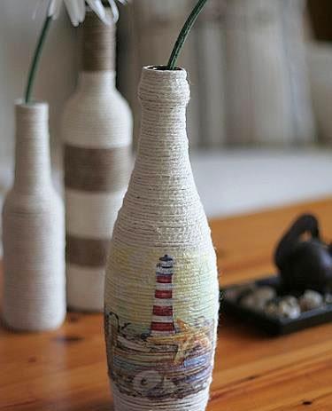 riciclare, riciclo bottiglie di vetro, idee faidate, idee riciclo, idee vetro, arredo riciclo, green, ambiente