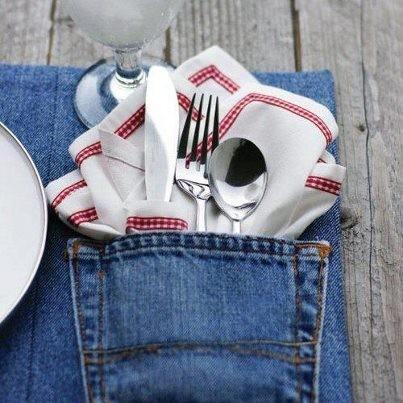 riciclo, idee riciclo, riciclare jeans, idee jeans, ambiente, mondo verde, tovaglietta di jeans