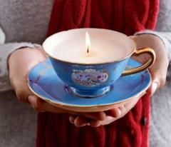 tazza,candela,idea regalo candela,tazza candela,riciclo,idea riciclo,ambiente,tazze restanti,tazze originali